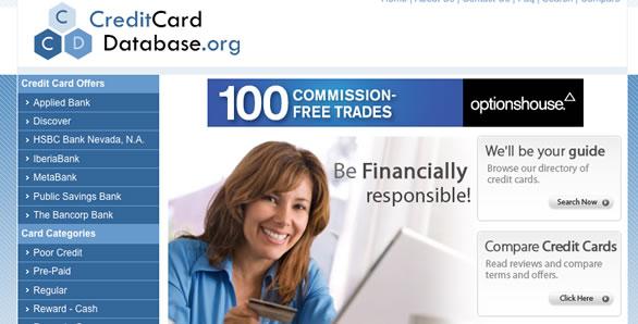 CreditCardDatabase.org Snapshot